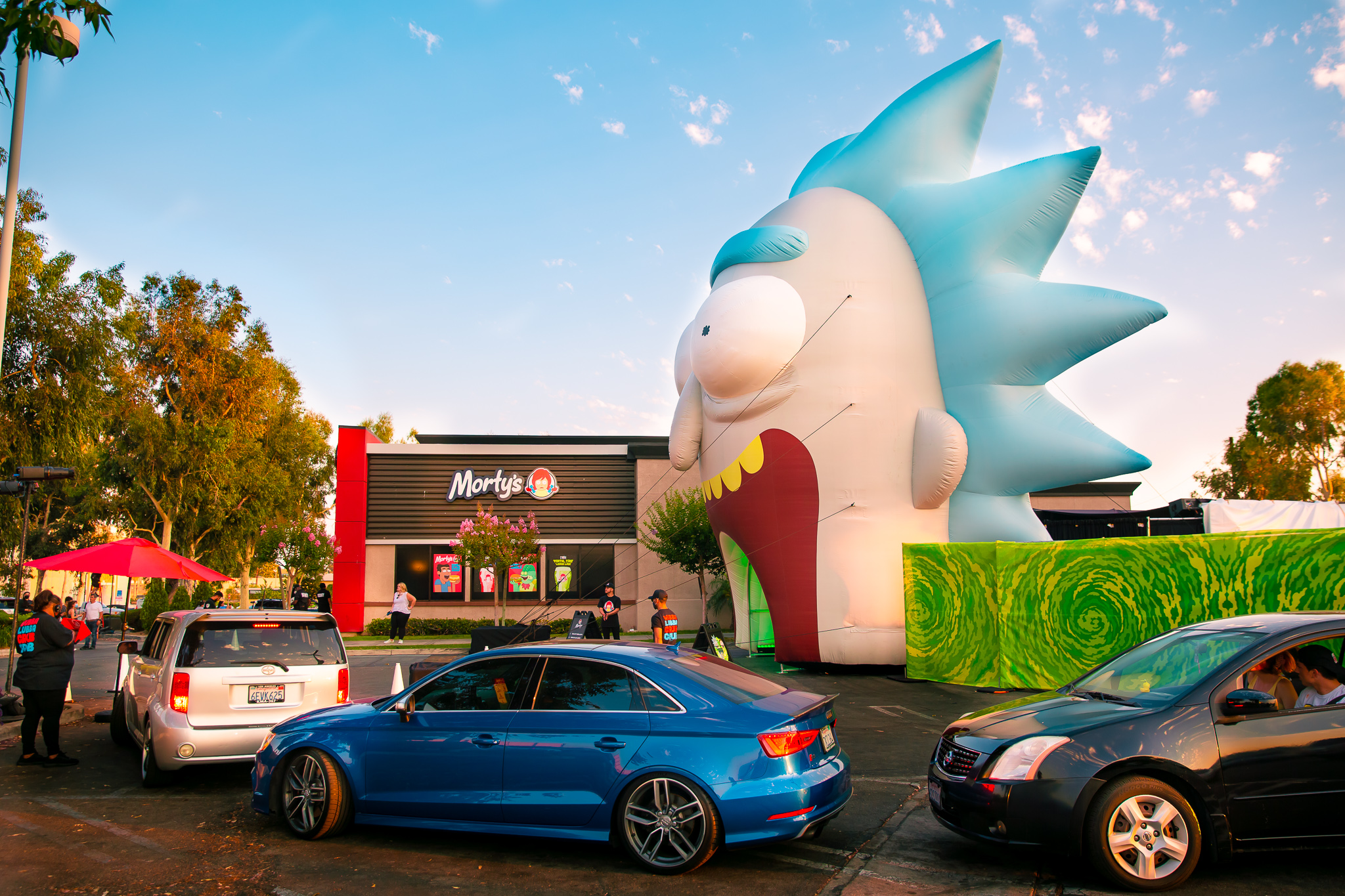 """The outside of """"Morty's"""" drive-thru"""
