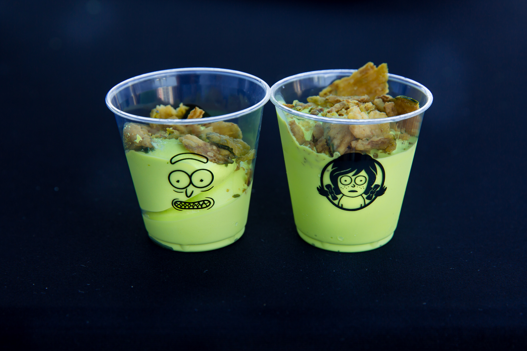 """Two cups of """"Pickle Rick"""" Frosty"""