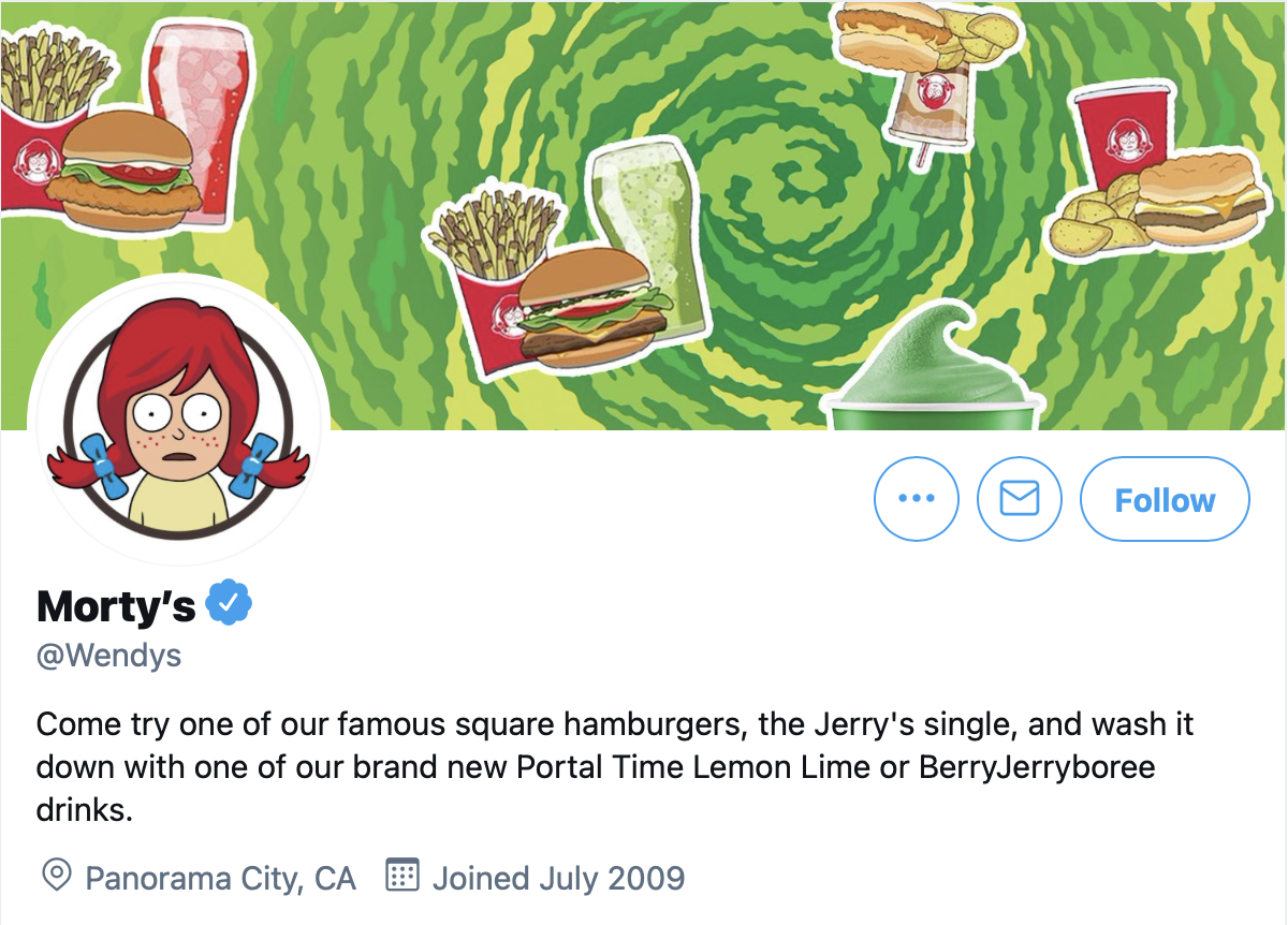"""The """"Morty's"""" takeover of Wendy's Twitter"""